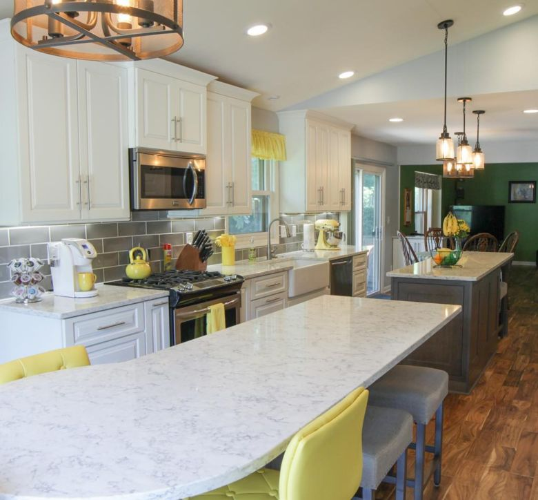 New Berlin open concept kitchen remodel with large island