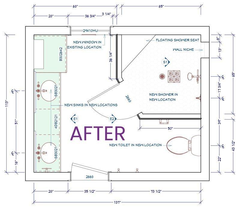 Floor plan master bathroom proposed