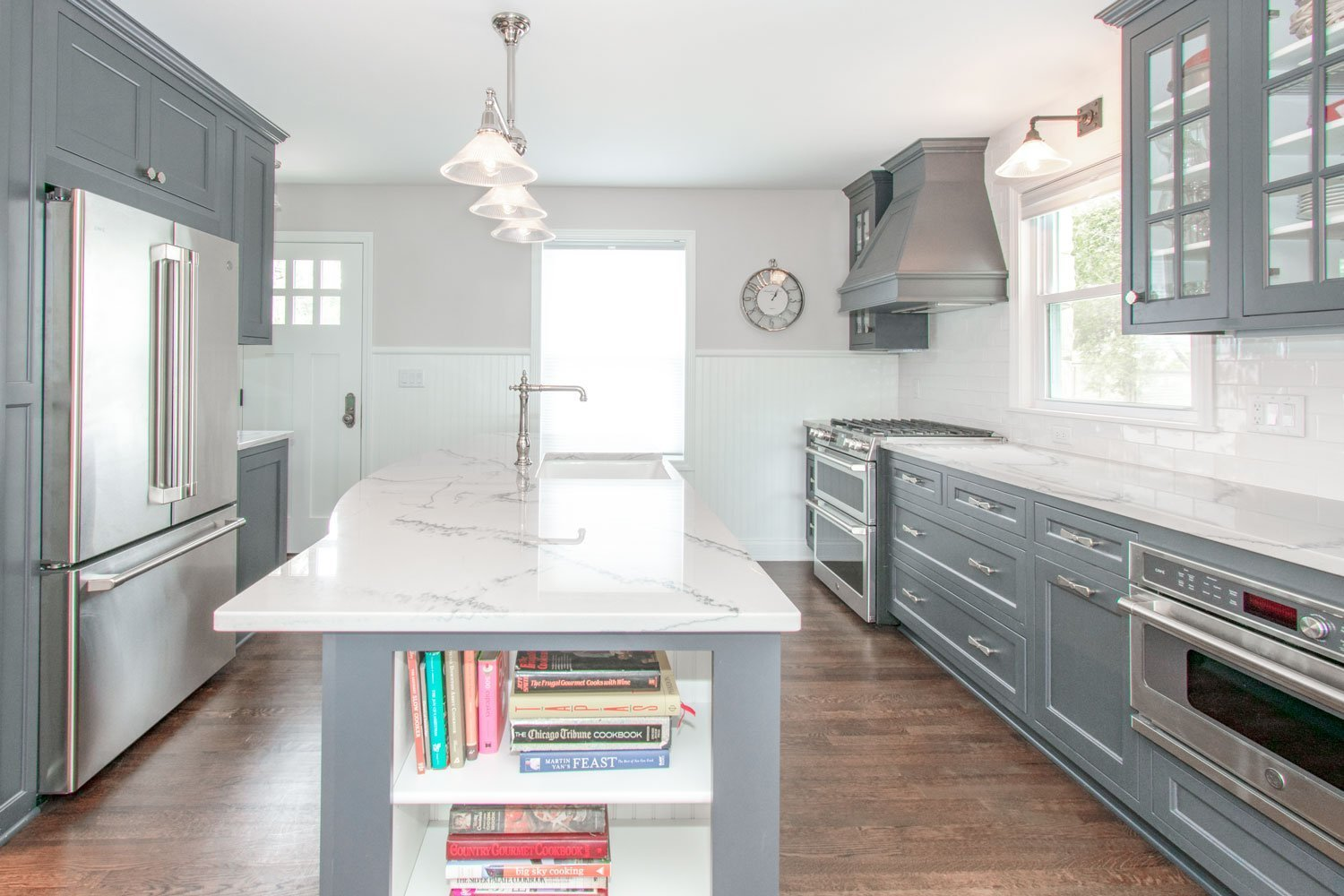 Delafield gray cabinet kitchen