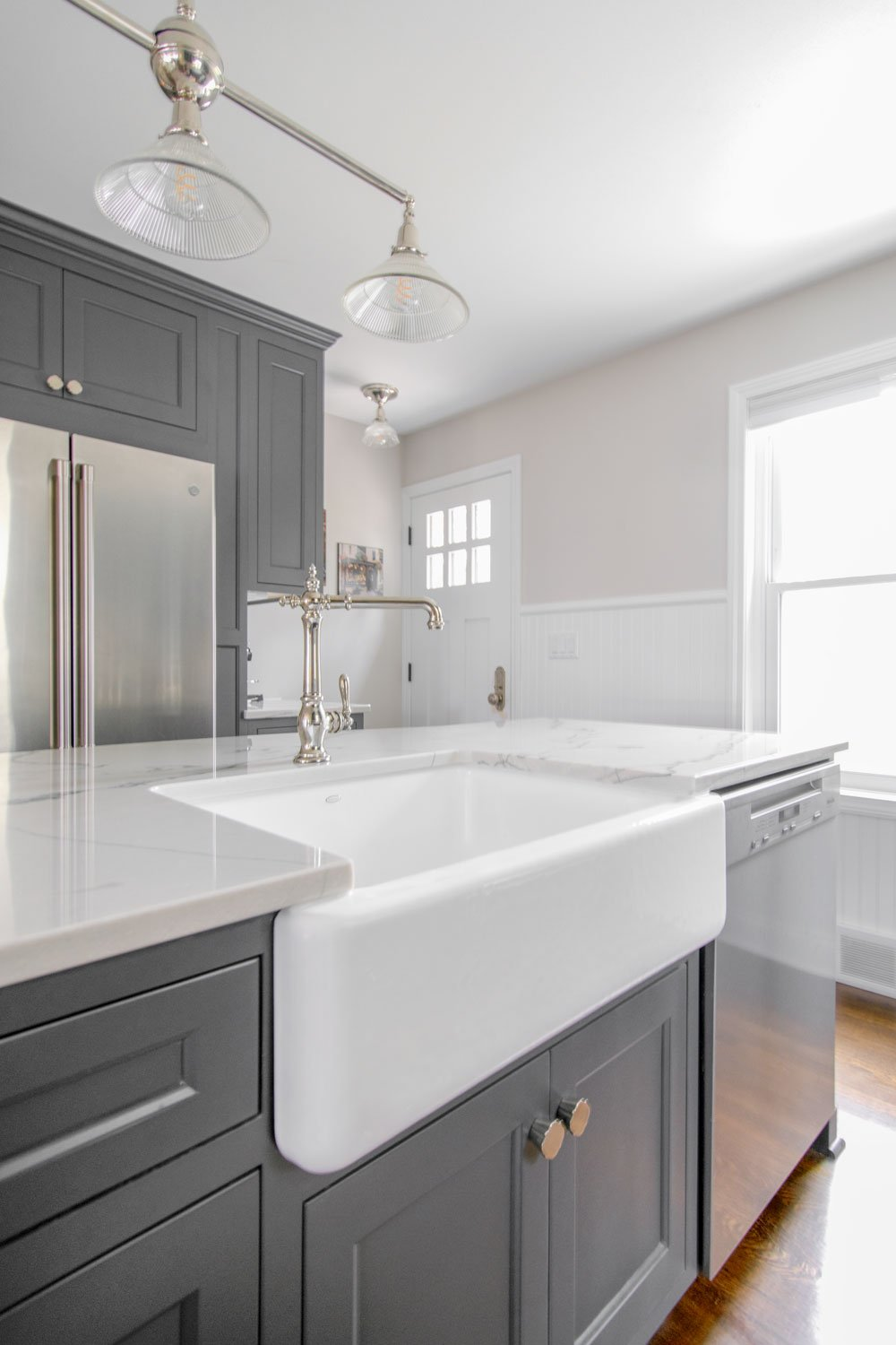 Delafield kitchen remodel Kohler farmhouse sink