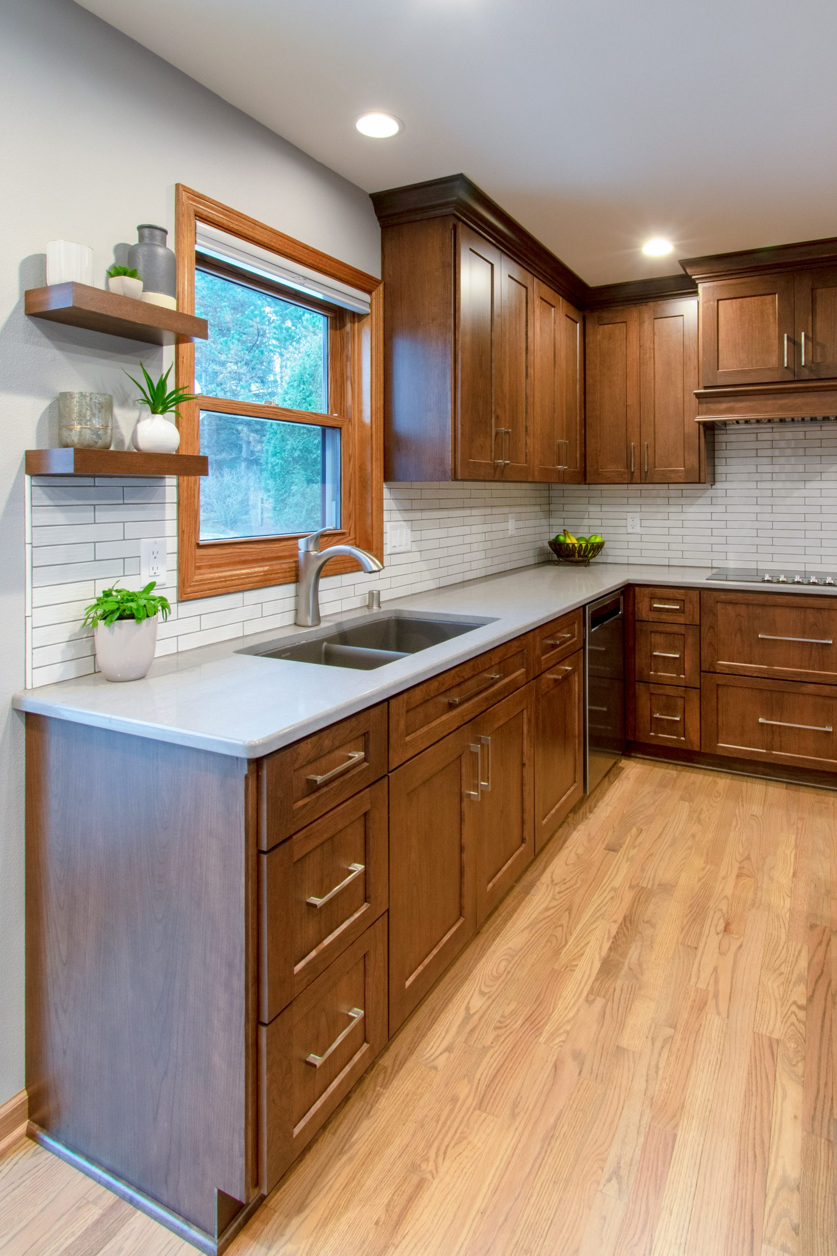 Lake Country traditional cherry kitchen