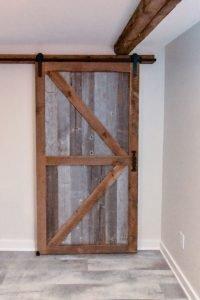 Handmade barnwood door