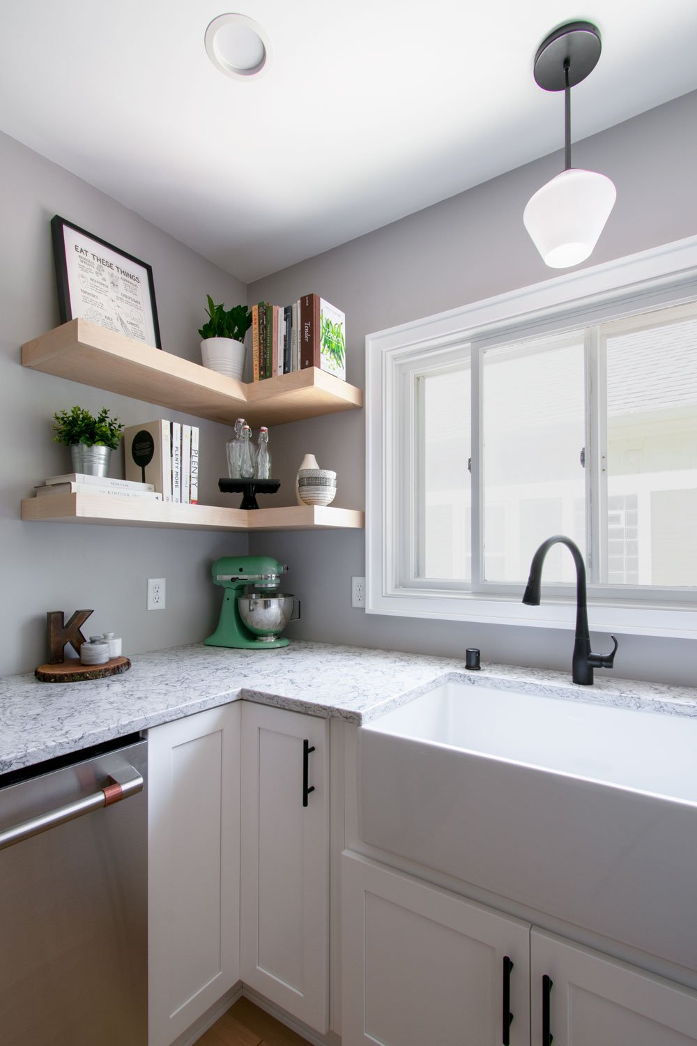 Wauwatosa Sink Shelves