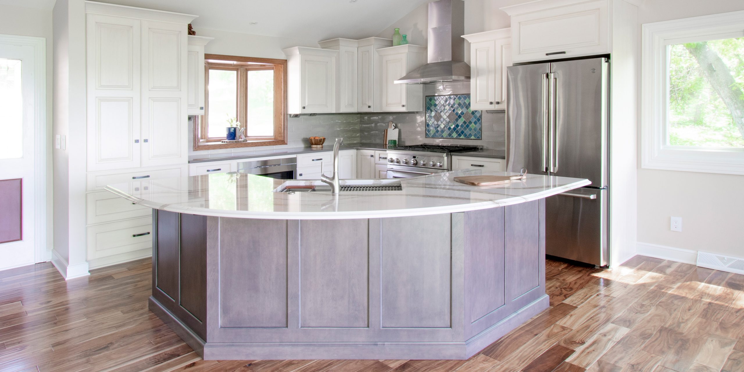 Open Concept Pewaukee Lake Kitchen