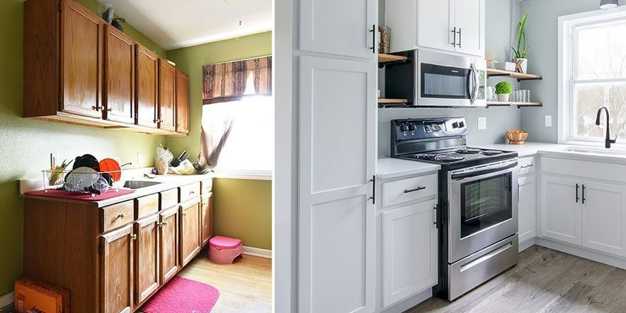 Before and after remodeling projects by Kowalske Kitchen & Bath