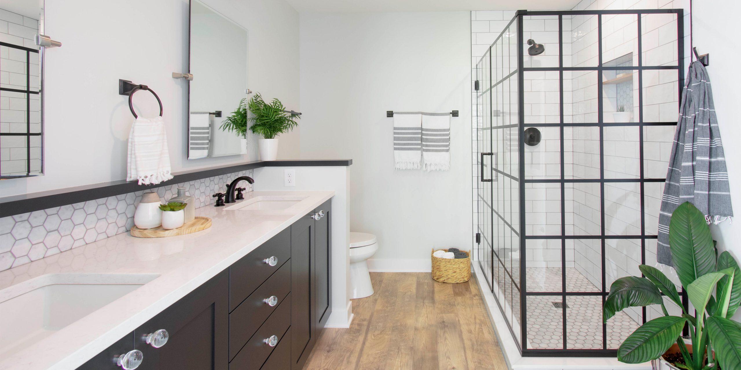 Black & White Boho Bathroom