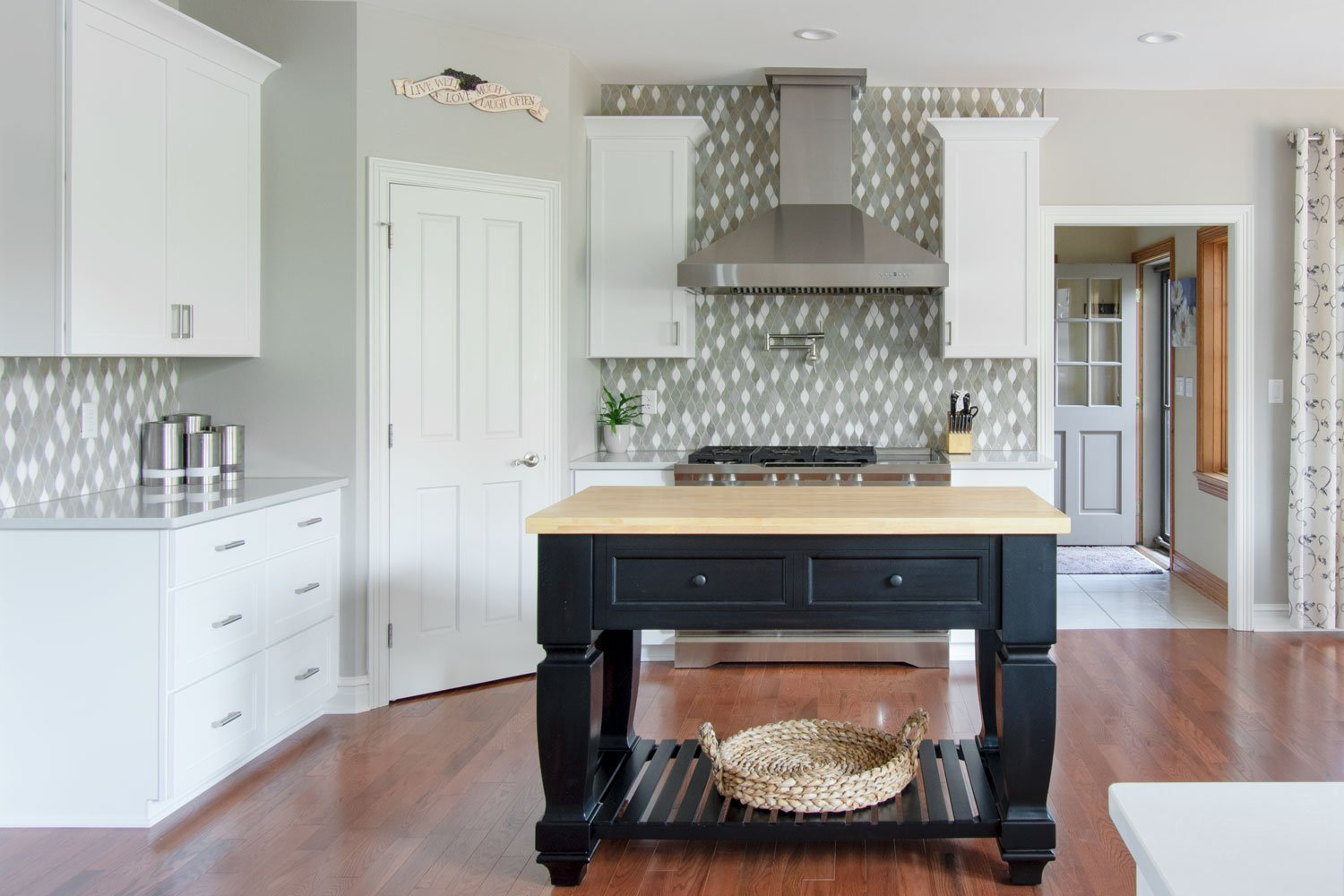 Open concept kitchen remodel with island