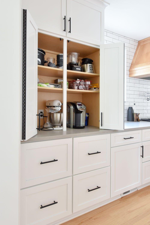 Appliance cabinet storage