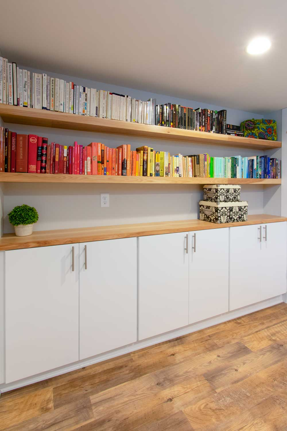 Basement Wauwatosa office book shelves