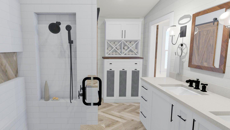 custom cabinetry bathroom