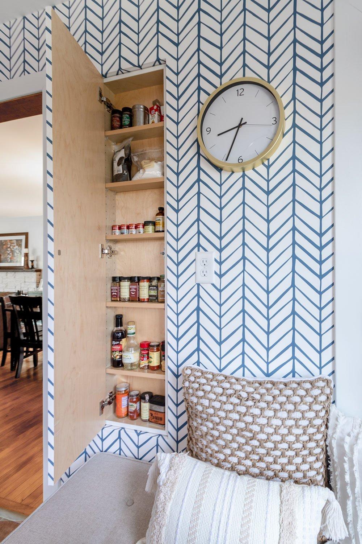 hidden cabinet kitchen