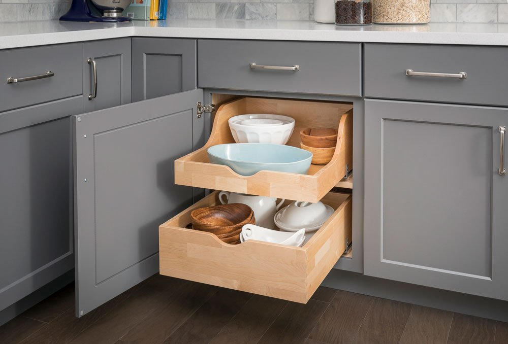 cabinet pull out shelves