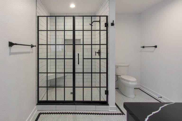 Black & White shower