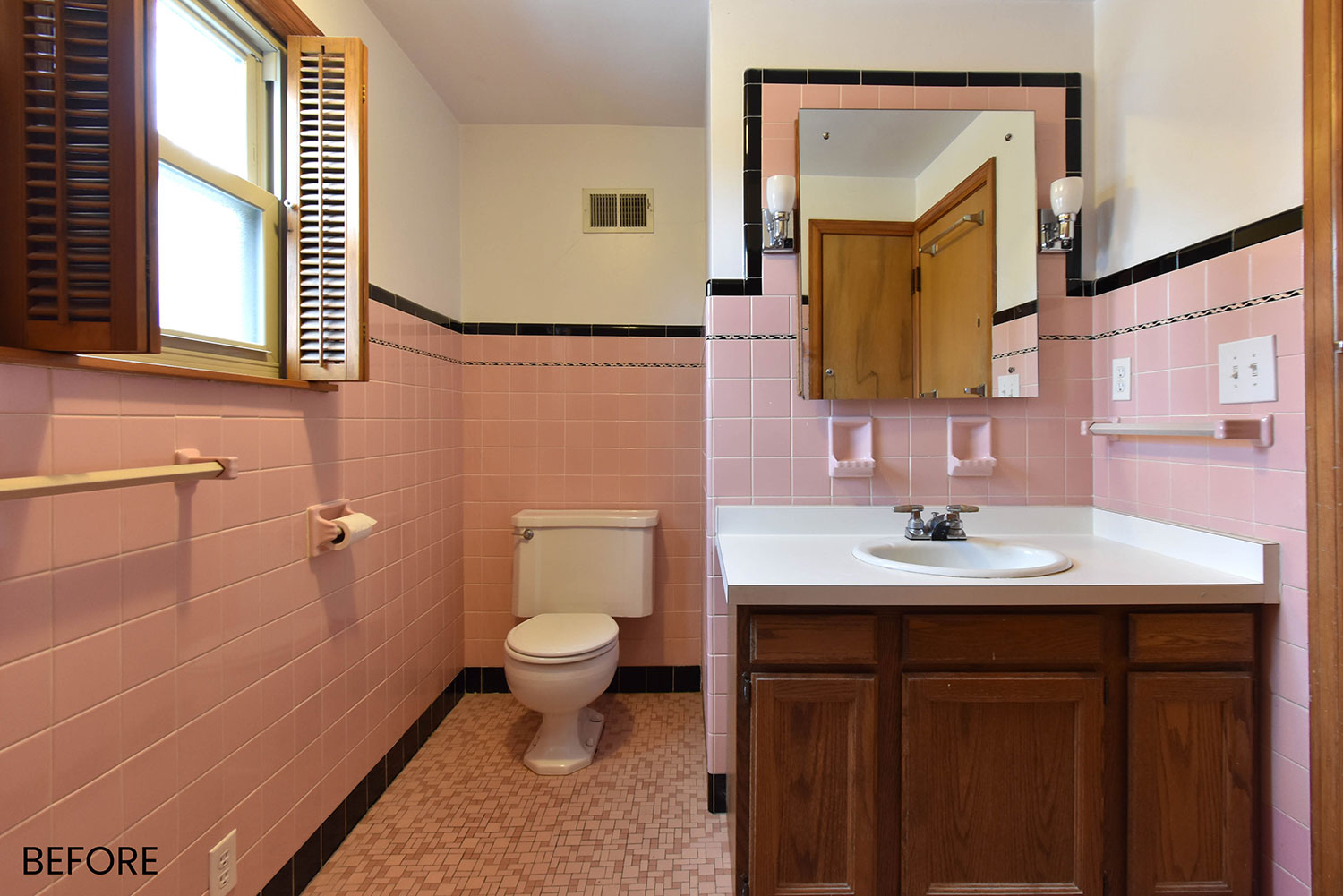 1950s Pink Bathroom Makeover Wauwatosa Wi