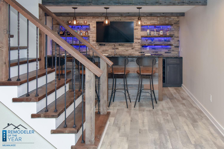 wisconsin basement bar
