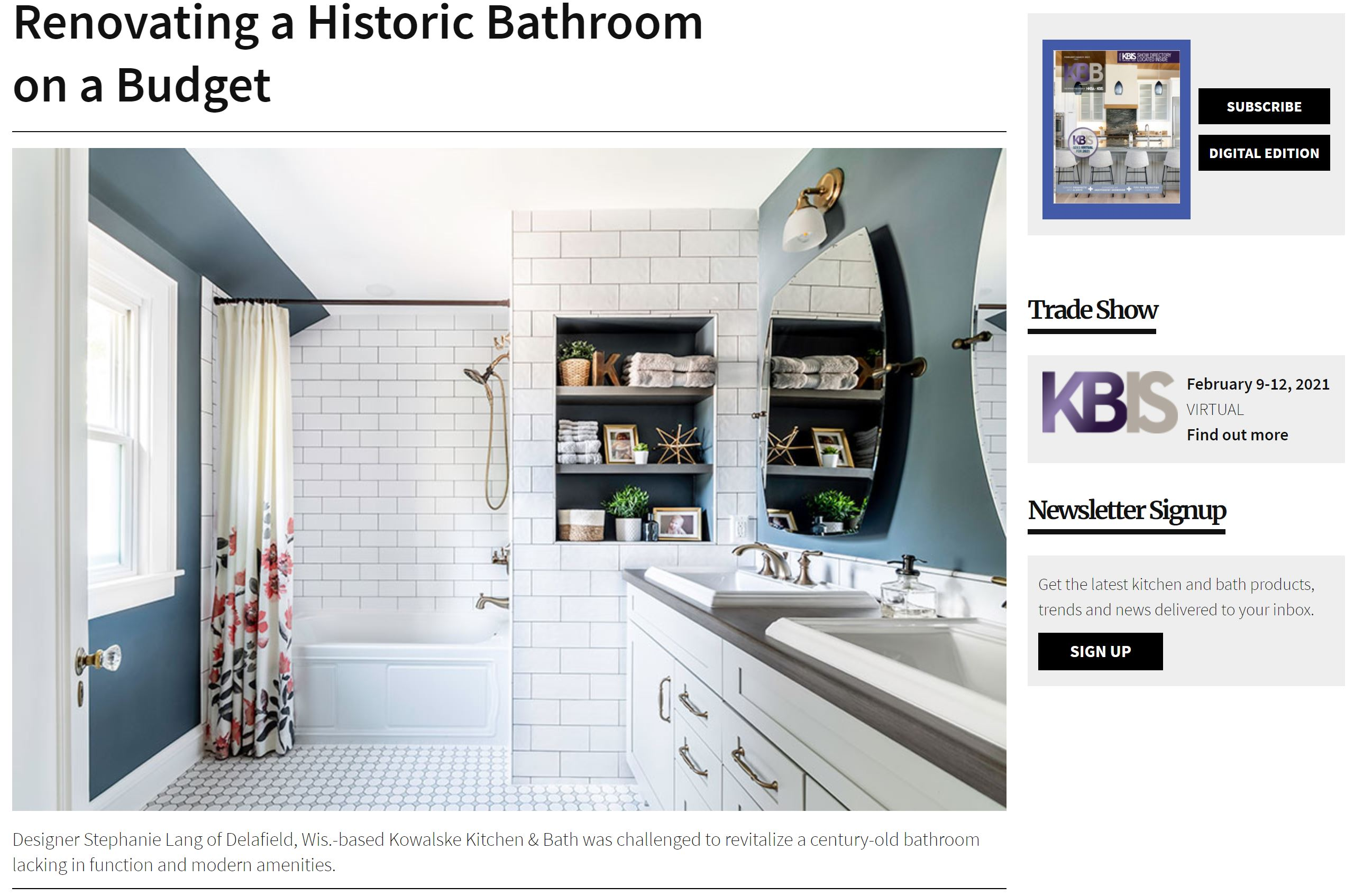 Kitchen and Bath Business Project